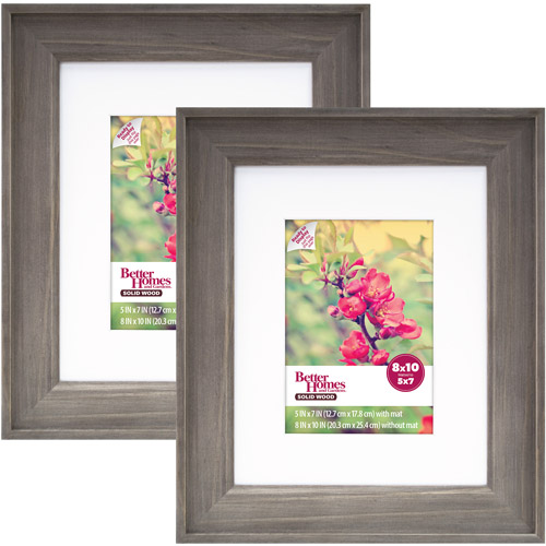 Better Homes and Gardens 8x10/5x7 Rustic Wood Picture Frame, 2pk