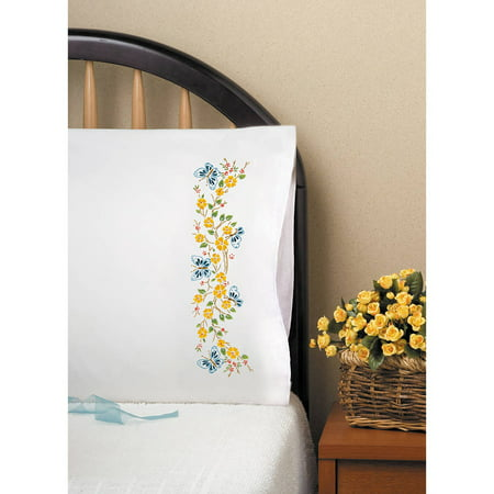 Stamped Pillowcase Pair For Embroidery, 20