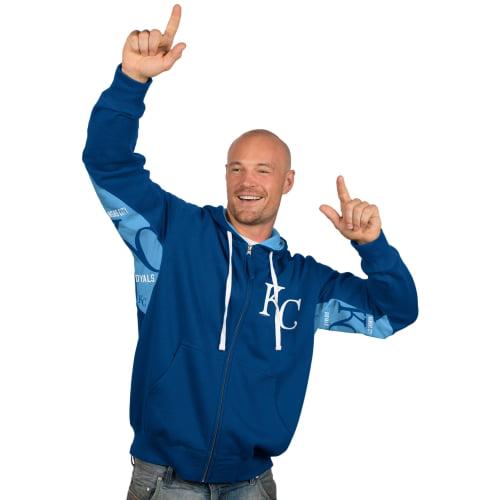 Kansas City Royals Hands High Full Zip Hoodie - Royal