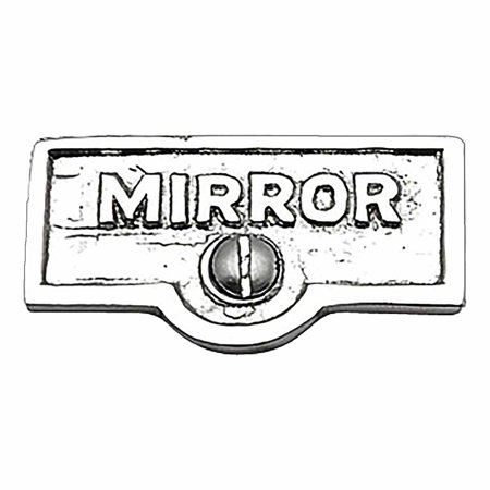 Switch Plate Tags MIRROR Name Signs Labels Chrome Brass | Renovators Supply
