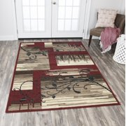 Rizzy Home XI6911 Red 8' x 10' Power-Loomed Area Rug