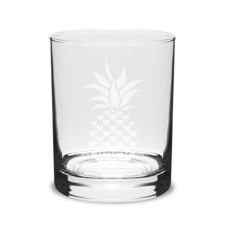 Pineapple 14 oz Classic Double Old Fashion Glass