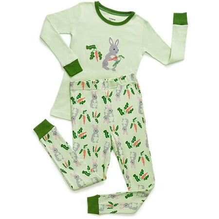 Leveret Organic Cotton Rabbit 2 Piece Pajama Set 14 Years