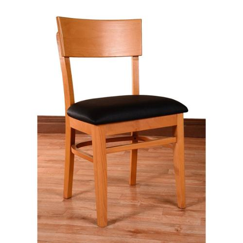 Beechwood Mountain LLC Andy Solid Beech Wood Upholstered Dining Chairs (Set of 2) by Overstock