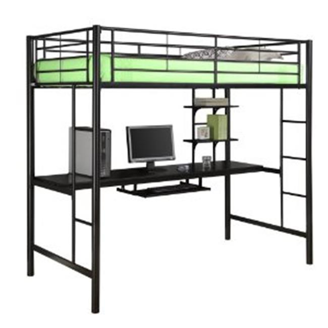 Walker Edison Btozbl Sunset Metal Twin Workstation Bunk