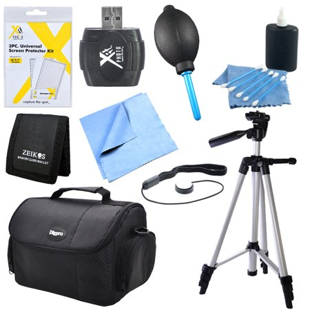Digital SLR Camera Accessory 9 pc Kit Canon Nikon Sony 60 â Tripod USB Card Reader Memory Card Wallet Lens Cleaning Kit & Pen Screen Protectors Digital Grey Card Set Professional Blower