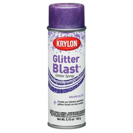 Dog Spray Paint Halloween (Krylon Glitter Blast Grape Glitz Spray Paint, 5.7)