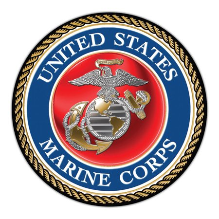 "Giant Size Magnet - United States Marine Corp Official Seal (USMC Military) - Doors, Tailgates, Cars, Trucks - Huge 11.5"" Diameter Round Magnet"