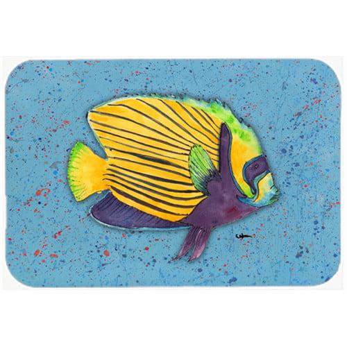 Caroline's Treasures Tropical Fish Glass Cutting Board