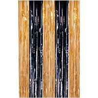 Metallic Fringe Curtains (Red, Green) 3ft x 8ft Pkg/12