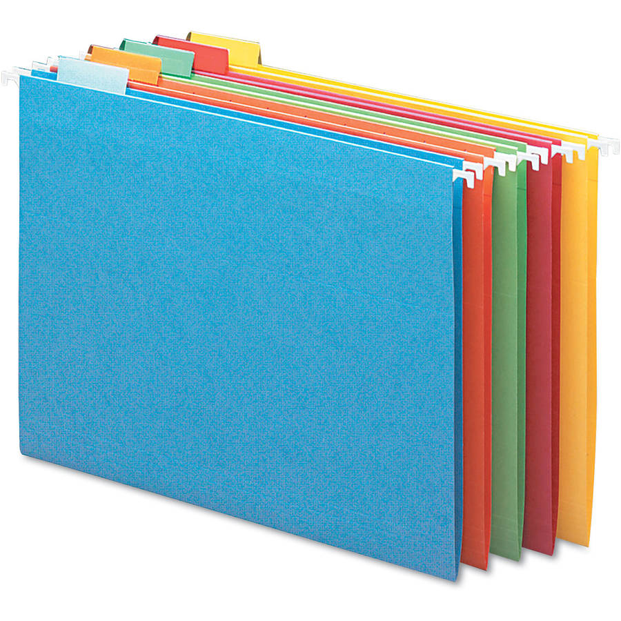 Smead Hanging File Folders, 1/5 Tab, 11 Point Stock, 25/Box