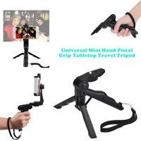 Universal Mini Pistol Handle Desktop Travel Tripod Stabilizer Bracket