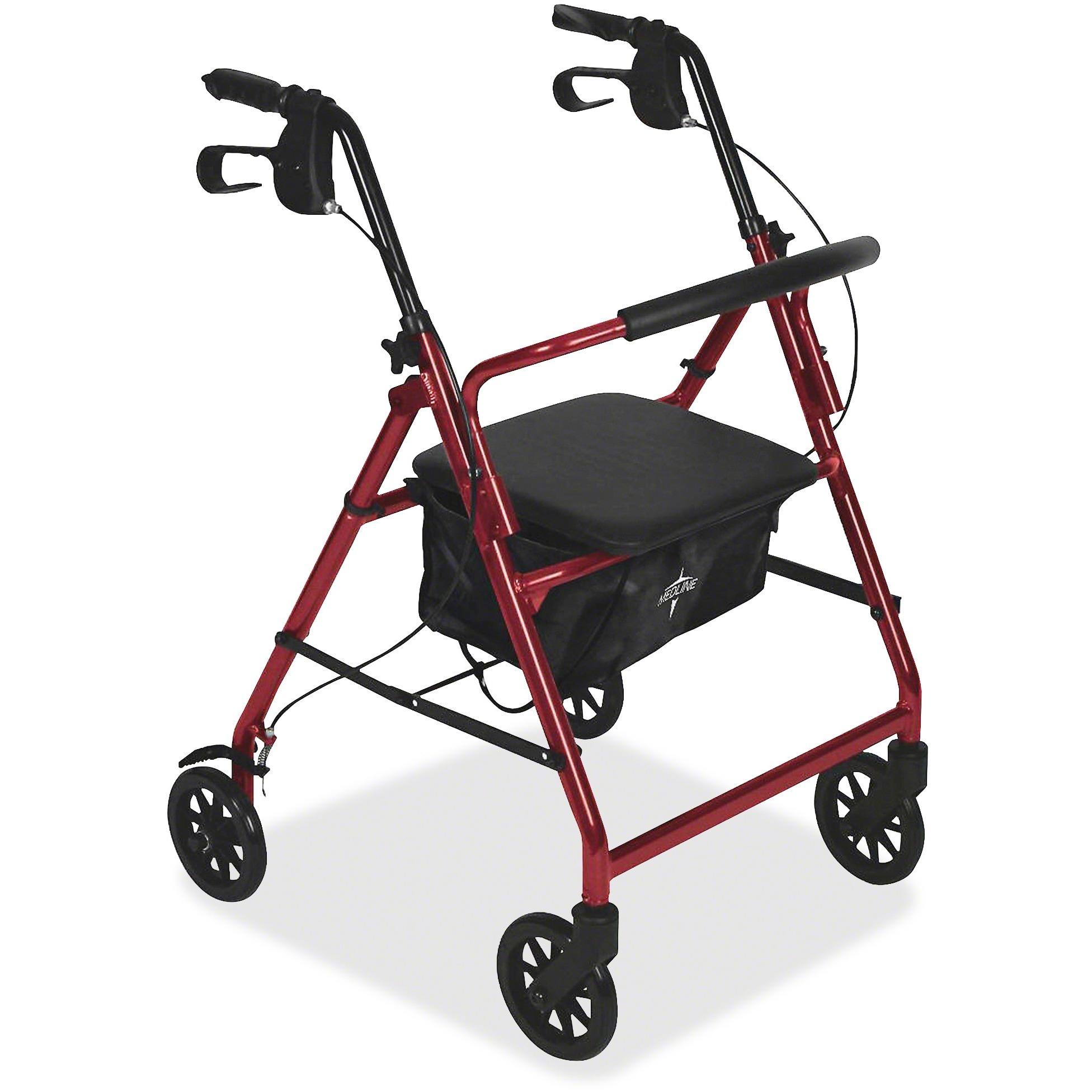 Medline, MIIMDS86850ES, Basic Steel Rollators, 1, Red
