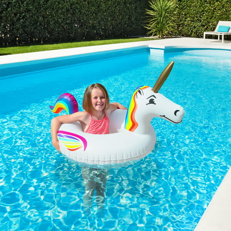 GoFloats Inflatable Unicorn Party Tube Jr - Unicorn Flats