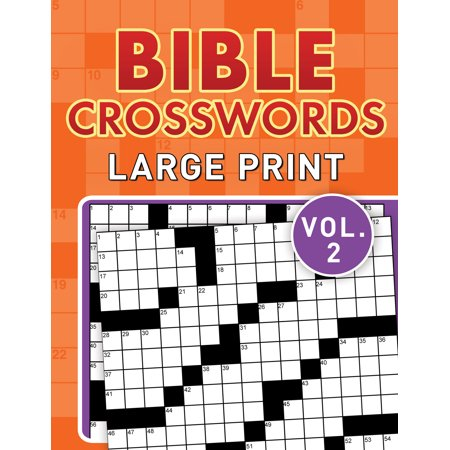 Bible Crosswords Large Print Vol. 2 Crossword Puzzle Books For Kids