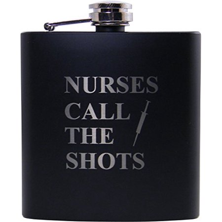 Nurses Call the Shots Flask, Funnel and Gift Box - Great Gift for a Cna, Rn, LPN Nurse, Nursing Student or Nursing Graduate (Cna Gifts)