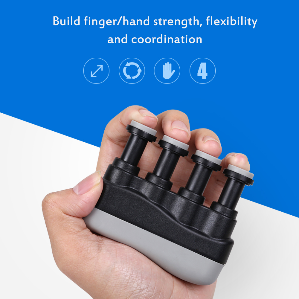 Finger Exerciser Strengthener Hand Wrist Strength Guitar Bass Piano Grip Trainer