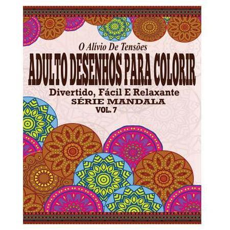 O Alivio de Tensoes Adulto Desenhos Para Colorir : Divertido, Facil E Relaxante Serie Mandala ( Vol. 7 )](Mandalas De Halloween)