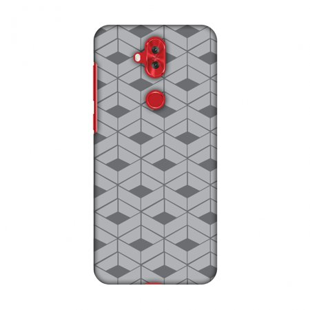 Asus Zenfone 5 Lite ZC600KL Case - Carbon Fibre Redux Stone Gray 9, Hard Plastic Back Cover, Slim Profile Cute Printed Designer Snap on Case with Screen Cleaning Kit