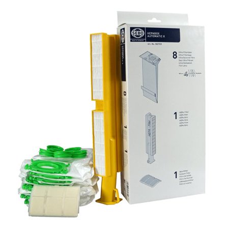 - Sebo Sebo HEPA Service Box - 8 Ultra Bags with Caps and HEPA and Exhaust Filters for AUTOMATIC X Series