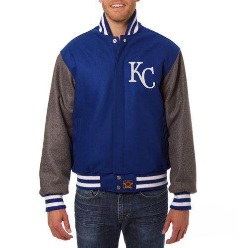 Men's JH Design Royal/Gray Kansas City Royals Two-Tone Wool Jacket