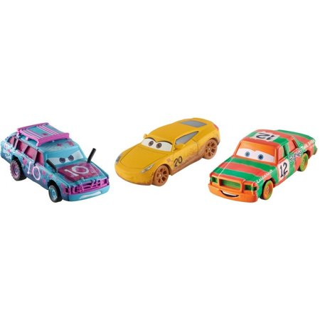 - Disney/Pixar Cars Crazy 8 Die-Cast 3-Pack Derby Character Vehicles