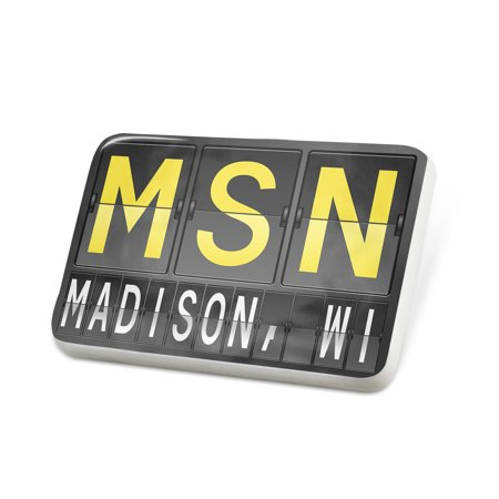 Porcelein Pin MSN Airport Code for Madison, WI Lapel Badge – NEONBLOND