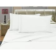 Elegant Comfort? 1500 Thread Count Egyptian Quality Microfiber Deep Pocket Bedroom Sheet Set, Queen White