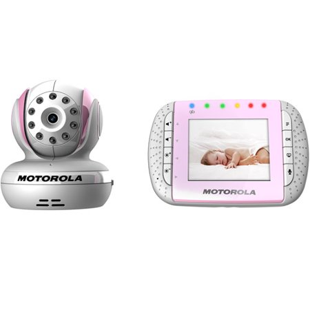 motorola mbp33p wireless technology 2 4 ghz digital video and audio baby monitor with 2 8 color. Black Bedroom Furniture Sets. Home Design Ideas
