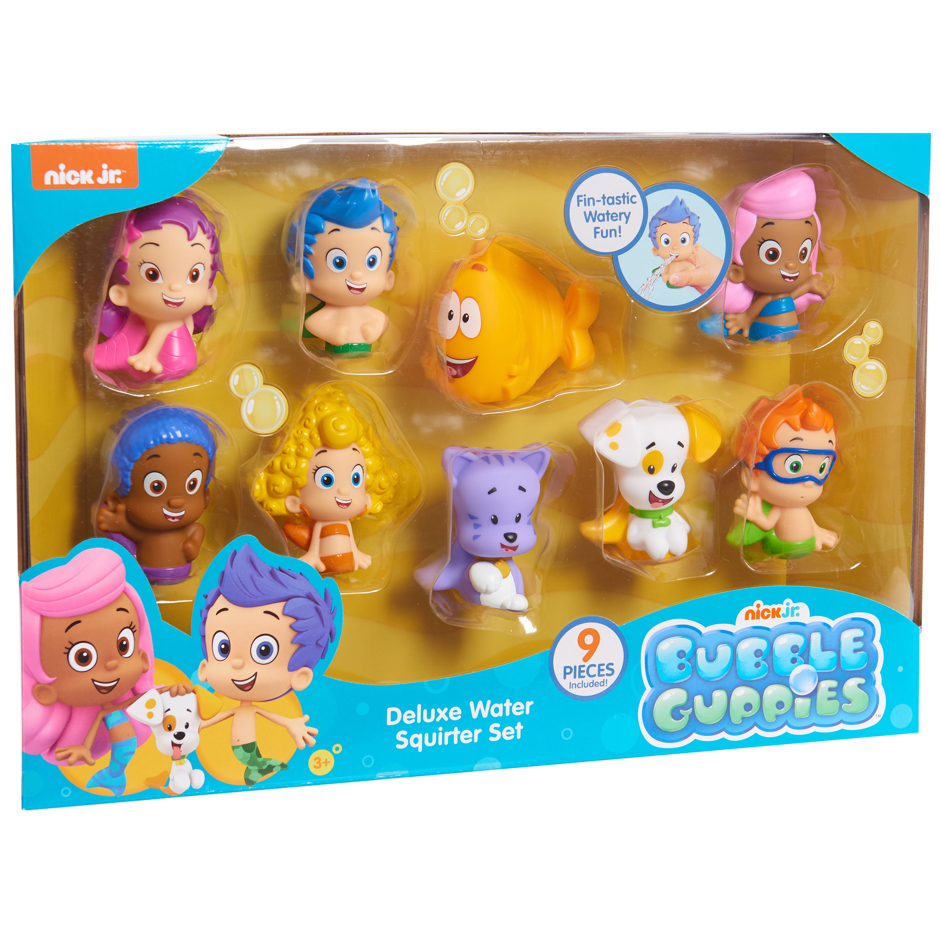 Bubble Guppies Bath Squirters Deluxe Set - 9 Bath Squirters Included