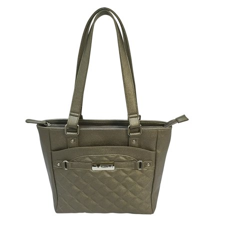 VISM Concealed Carry Quilted Tote Gray