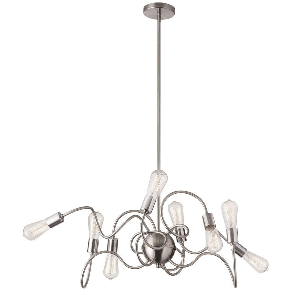Dainolite 8 Light Oval Pendant W Vintage Bulbs