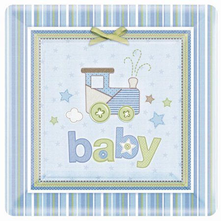 Baby Shower 'Carter's Baby Boy' Extra Large Paper Plates (8ct) - Baby Boy Shower Plates