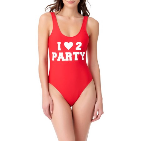 No Boundaries Juniors Catch Phrase 1 pc Swim - I Love to Party