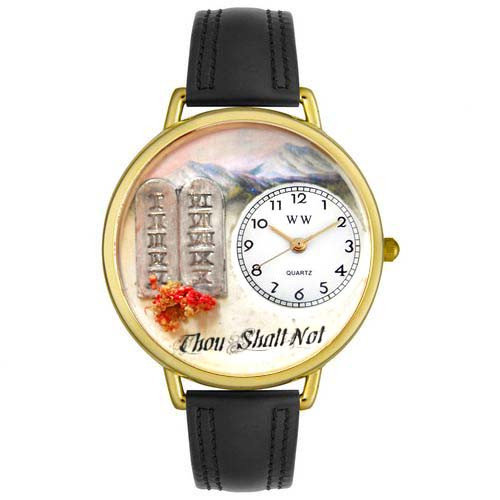 Whimsical Watches Unisex Ten Commandments Watch in Gold