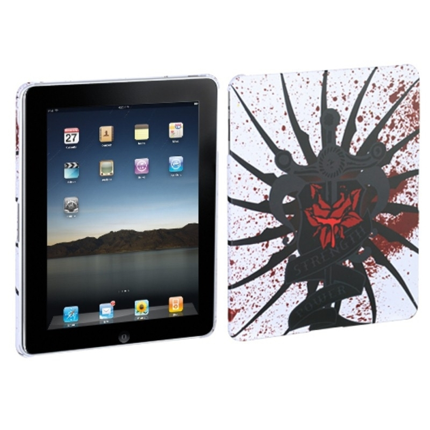 Insten Lizzo Bloody Rose Back Case (with Package) for APPLE: iPad
