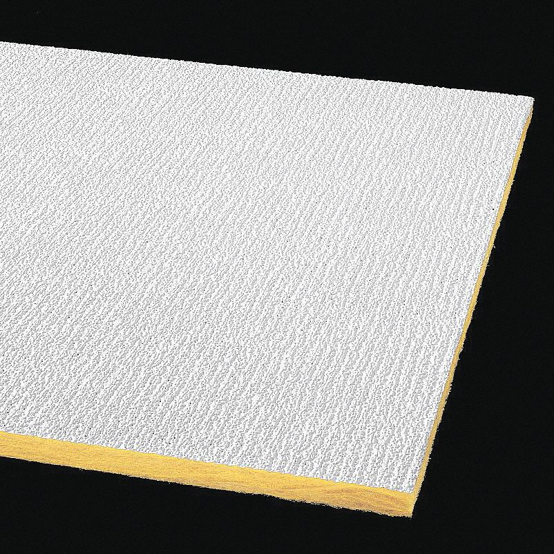 """ARMSTRONG Ceiling Tile,24"""" W,48"""" L,5/8"""" Thick,PK16 2907"""