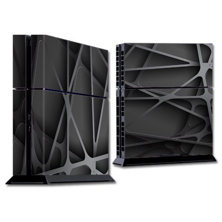 Skin Decal For Ps4 Playstation 4 Console / Black Metal Web