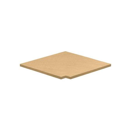 Corner Flat Top Filler for Locker in Maple