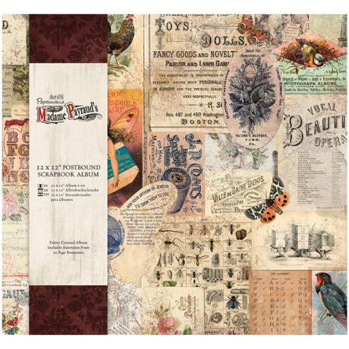 """Papermania Madame Payraud Postbound Scrapbook Album 12""""X12""""-"""