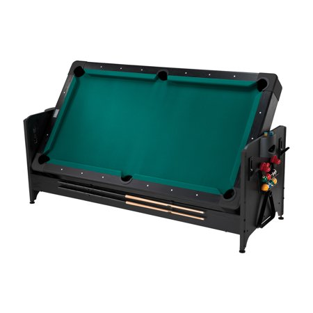 Fat Cat Pockey 7' 2-in-1 Billiards and Air Hockey Game - Fat Cat Pool Table