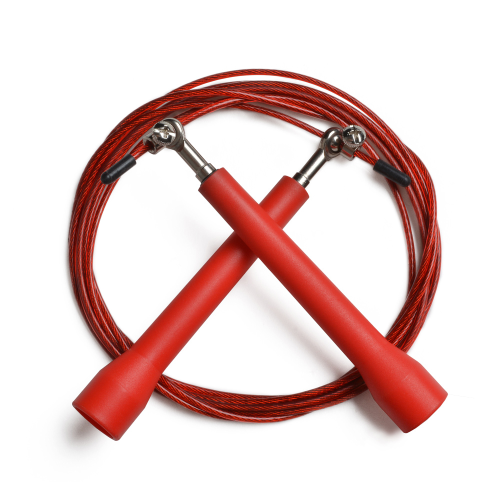 ODOLAND Jump Rope Adjustable 10 Foot Speed Rope Best for Cross Fitness Training Red