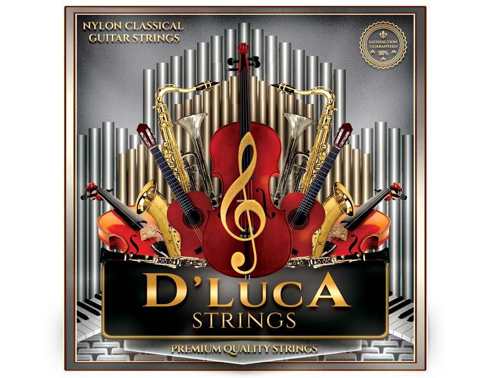 D'Luca Nylon Classical Guitar Strings 6 Pcs Set by D'Luca