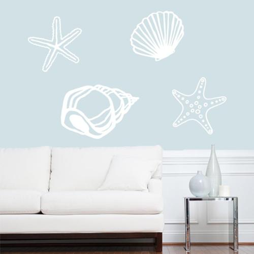 Sweetums Large Set of Seashells Wall Decals