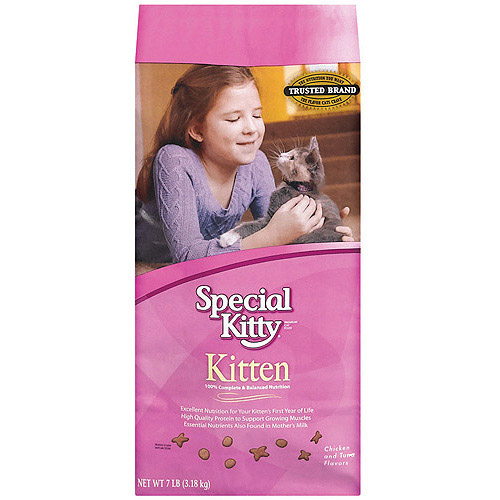 Special Kitty Cat Food for Kittens, 7 lb