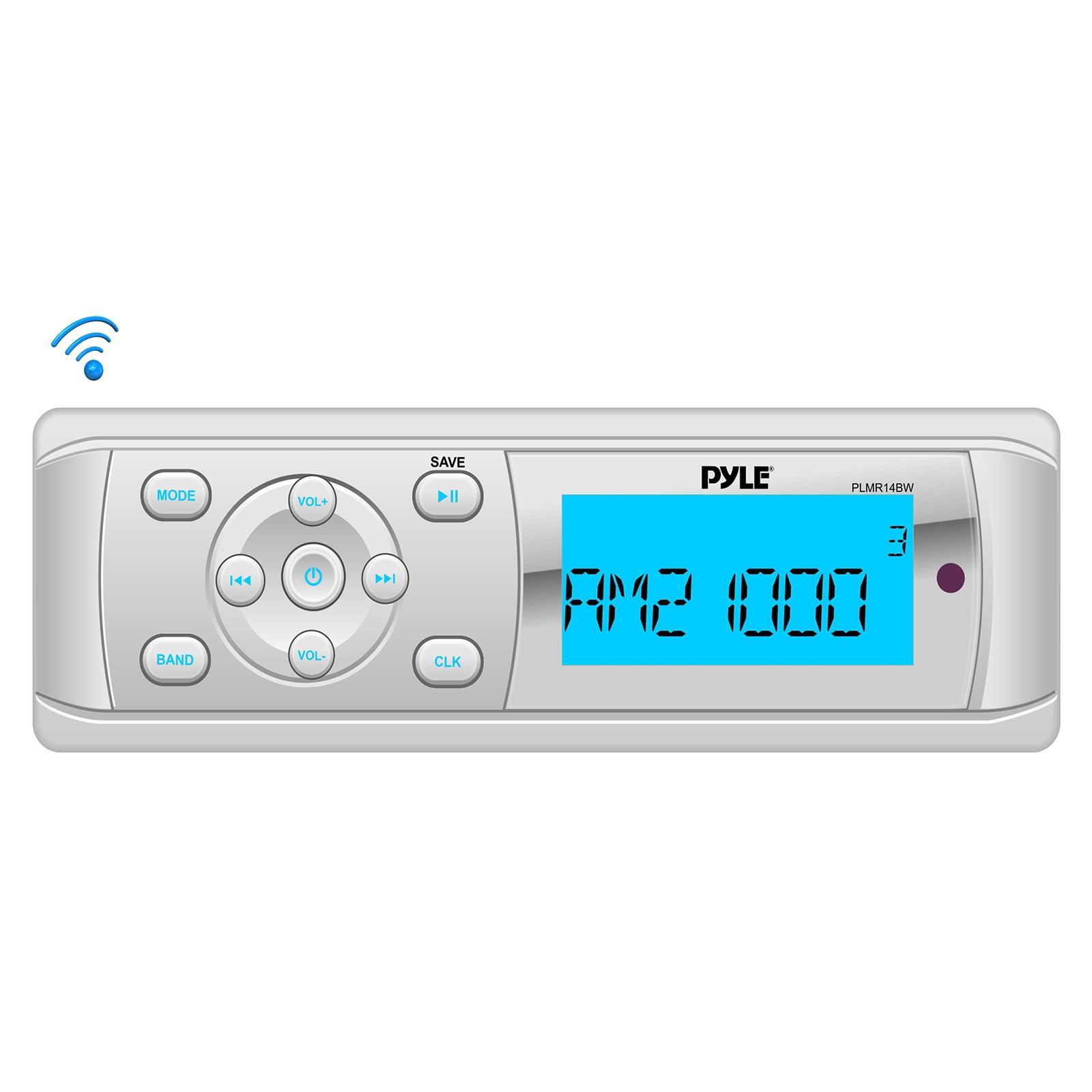 Car Audio Universal BT Marine Stereo Radio Receiver, Water-Resistant/Weatherproof, MP3/USB Reader, AM/FM Radio, Weatherband + Pyle en VeoyCompro.net