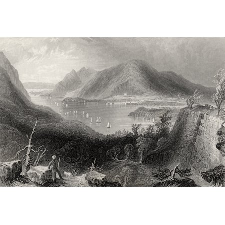 View From Fort Putnam Hudson River Usa From A 19Th Century Print Engraved By R Sands After Bartlett (Putnam Prints)
