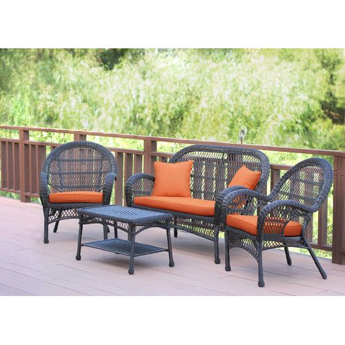 August Grove Mangum 4 Piece Sofa Set with Cushions