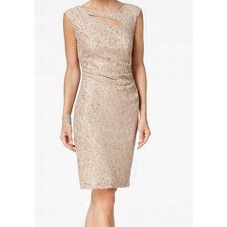 Sequin Sheath Dress (Connected Apparel Women's Sequin Lace Sheath Dress)