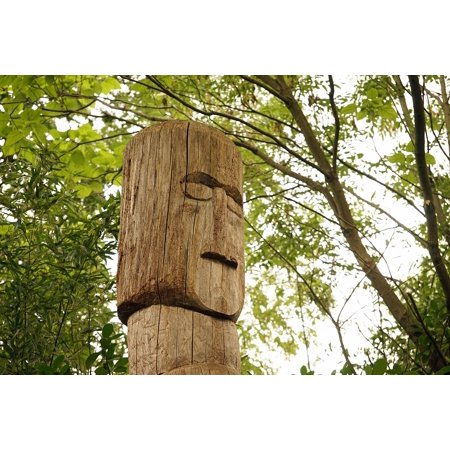 Canvas Print Wood Pile Wood Fig Pile of Wood Pile Totem Pole Stretched Canvas 10 x - Totem Poles For Sale